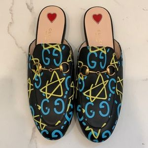 Gucci Ghost Princetown Slides Size 39